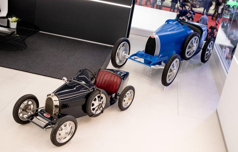 Bugatti lansează Baby II: vehiculul electric de mici dimensiuni are roți motrice spate, dezvoltă 13 CP și este inspirat de legendarul Type 35. - Poza 9