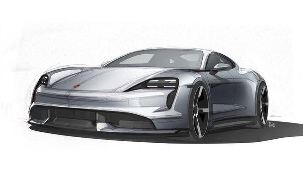 Primele schițe cu viitorul Porsche Taycan: modelul electric debutează în luna septembrie - Poza 1