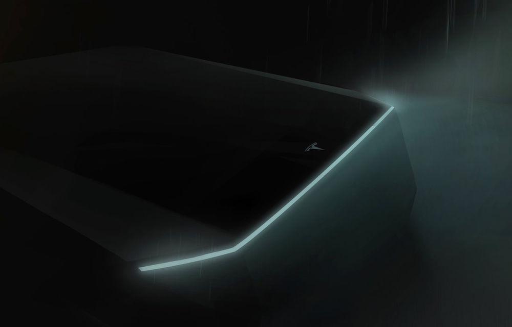 Primul teaser pentru pick-up-ul electric pregătit de Tesla: prezentarea va avea loc în acest an - Poza 1