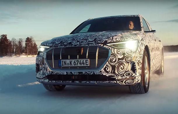 Audi testează viitorul e-tron Sportback în Finlanda: versiunea de serie debutează în cursul anului curent - Poza 1