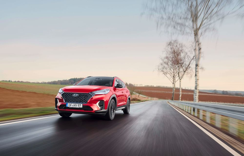 Hyundai prezintă versiunea Tucson N Line: motor diesel de 1.6 litri cu sistem mild-hybrid, aspect sportiv și suspensii mai rigide - Poza 8