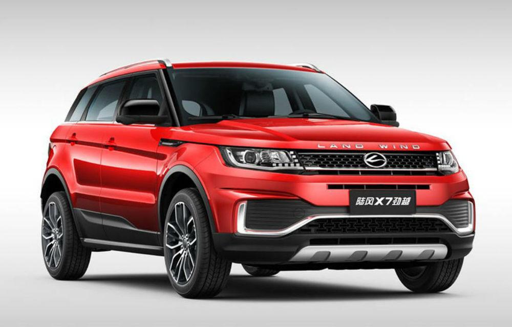 """JLR a câștigat procesul cu chinezii care vindeau o copie a lui Range Rover Evoque: """"clona"""" Landwind X7 va fi scoasă de la vânzare, iar britanicii vor primi despăgubiri - Poza 1"""