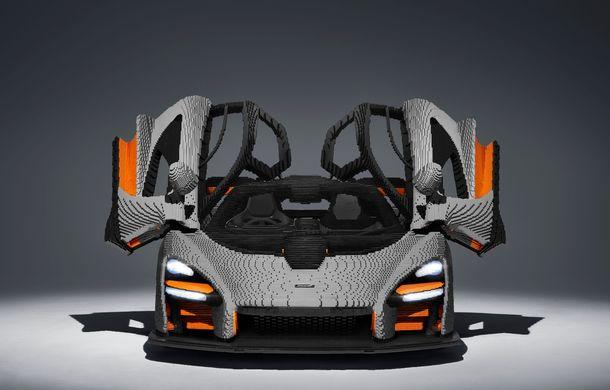 McLaren a dat în mintea copiilor: britanicii au asamblat un exemplar Senna în mărime naturală din piese Lego - Poza 4