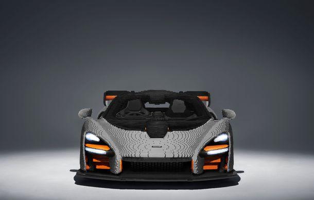 McLaren a dat în mintea copiilor: britanicii au asamblat un exemplar Senna în mărime naturală din piese Lego - Poza 3