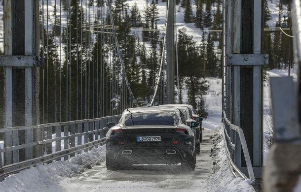 Imagini noi cu viitorul Porsche Taycan: nemții încep testele finale cu primul model electric de serie din istoria companiei - Poza 2