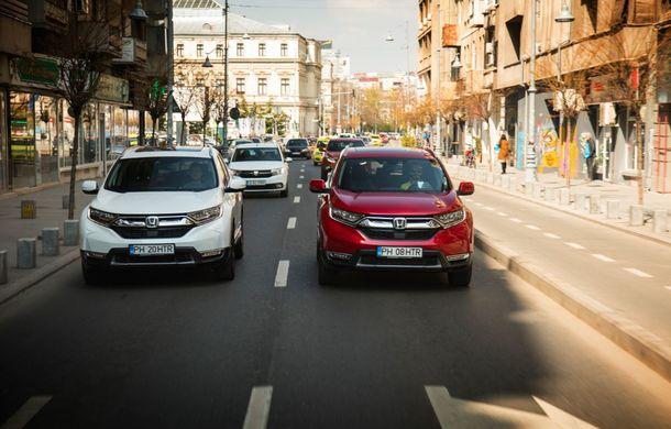 Comparativ de consum: Honda CR-V hibrid vs. Honda CR-V benzină în traficul din București - Poza 31