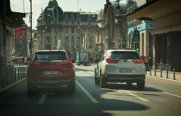 Comparativ de consum: Honda CR-V hibrid vs. Honda CR-V benzină în traficul din București - Poza 36