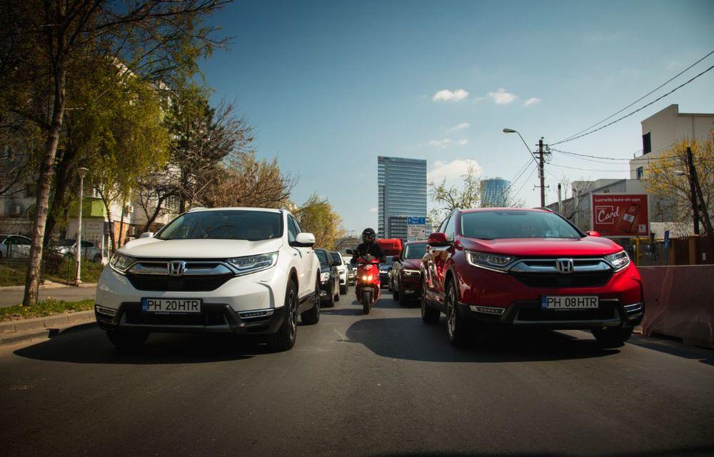 Comparativ de consum: Honda CR-V hibrid vs. Honda CR-V benzină în traficul din București - Poza 15
