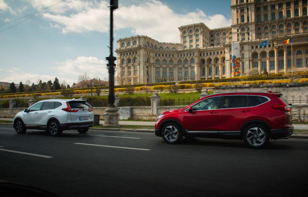 Comparativ de consum: Honda CR-V hibrid vs. Honda CR-V benzină în traficul din București - Poza 39