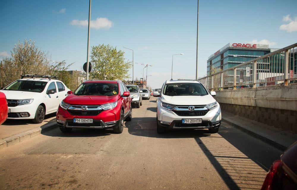 Comparativ de consum: Honda CR-V hibrid vs. Honda CR-V benzină în traficul din București - Poza 7