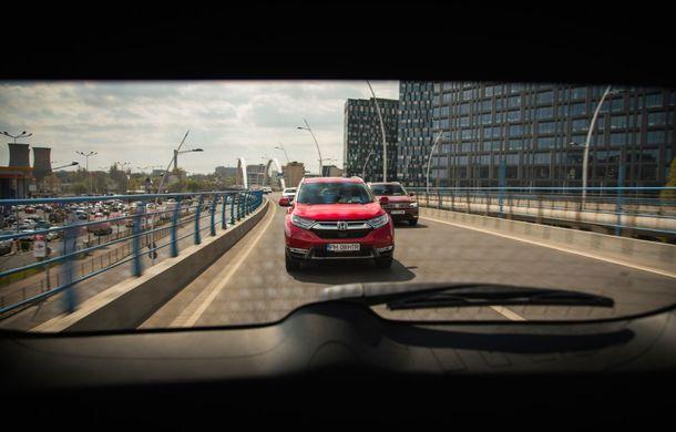 Comparativ de consum: Honda CR-V hibrid vs. Honda CR-V benzină în traficul din București - Poza 47