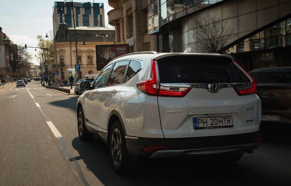 Comparativ de consum: Honda CR-V hibrid vs. Honda CR-V benzină în traficul din București - Poza 26