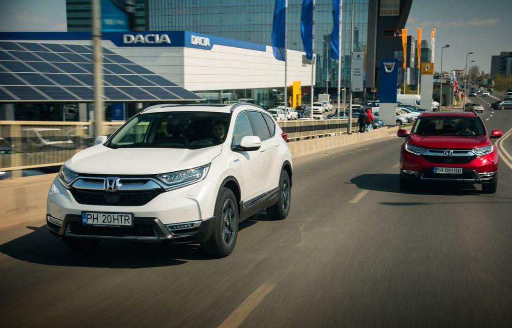 Comparativ de consum: Honda CR-V hibrid vs. Honda CR-V benzină în traficul din București - Poza 6