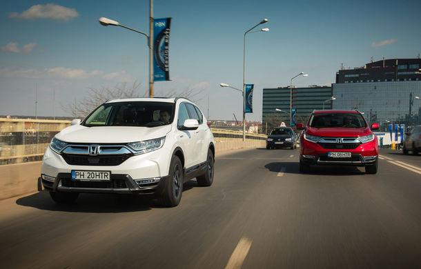 Comparativ de consum: Honda CR-V hibrid vs. Honda CR-V benzină în traficul din București - Poza 1
