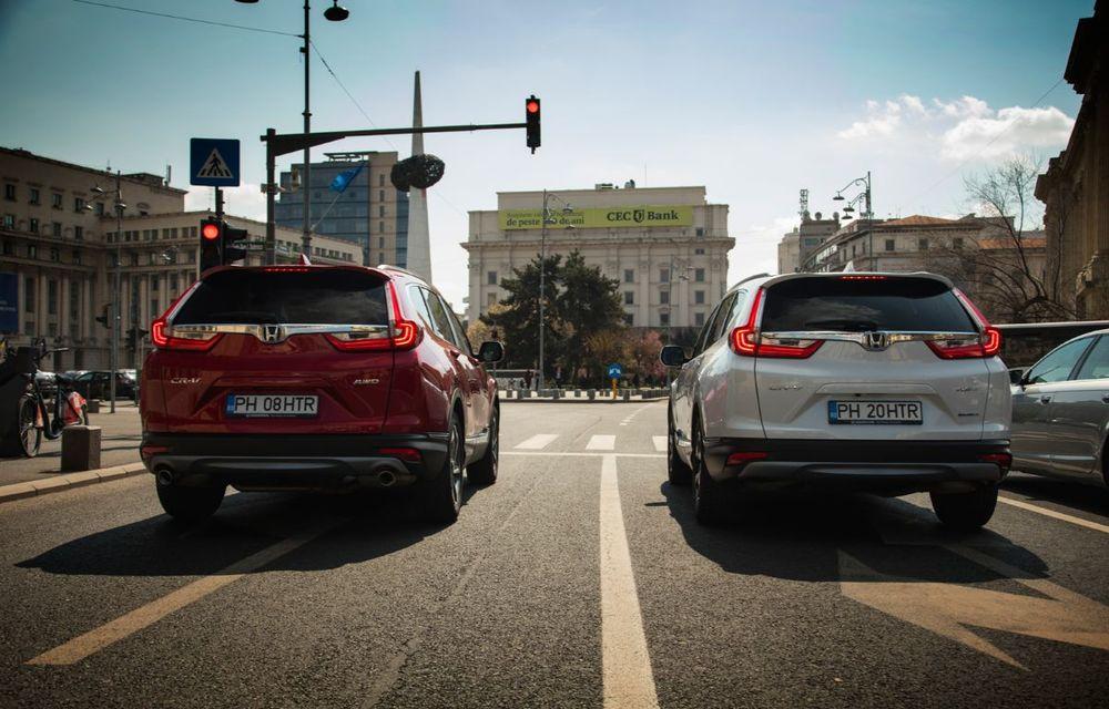 Comparativ de consum: Honda CR-V hibrid vs. Honda CR-V benzină în traficul din București - Poza 33