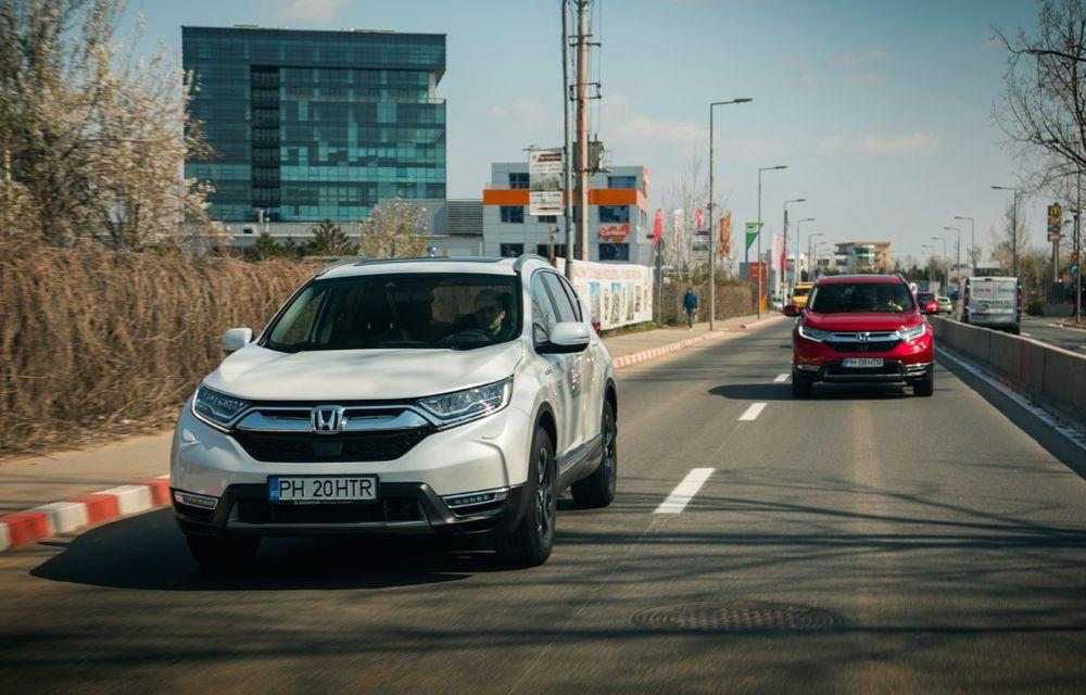 Comparativ de consum: Honda CR-V hibrid vs. Honda CR-V benzină în traficul din București - Poza 4