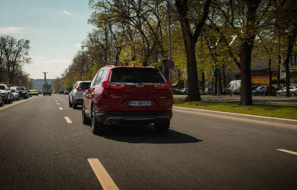 Comparativ de consum: Honda CR-V hibrid vs. Honda CR-V benzină în traficul din București - Poza 21