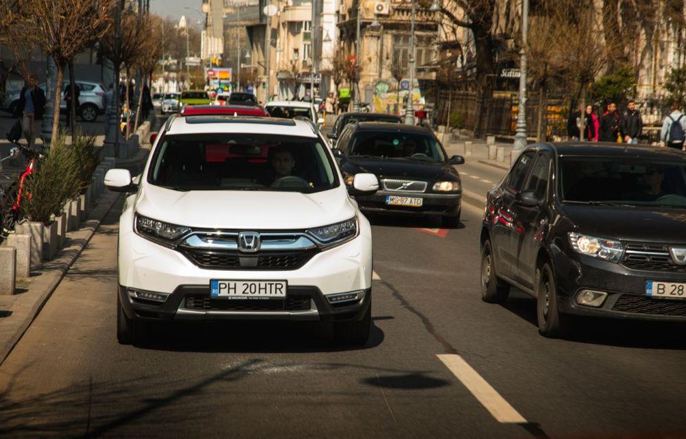 Comparativ de consum: Honda CR-V hibrid vs. Honda CR-V benzină în traficul din București - Poza 27