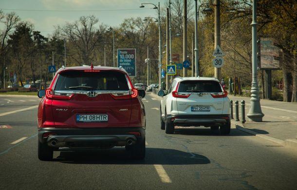Comparativ de consum: Honda CR-V hibrid vs. Honda CR-V benzină în traficul din București - Poza 16