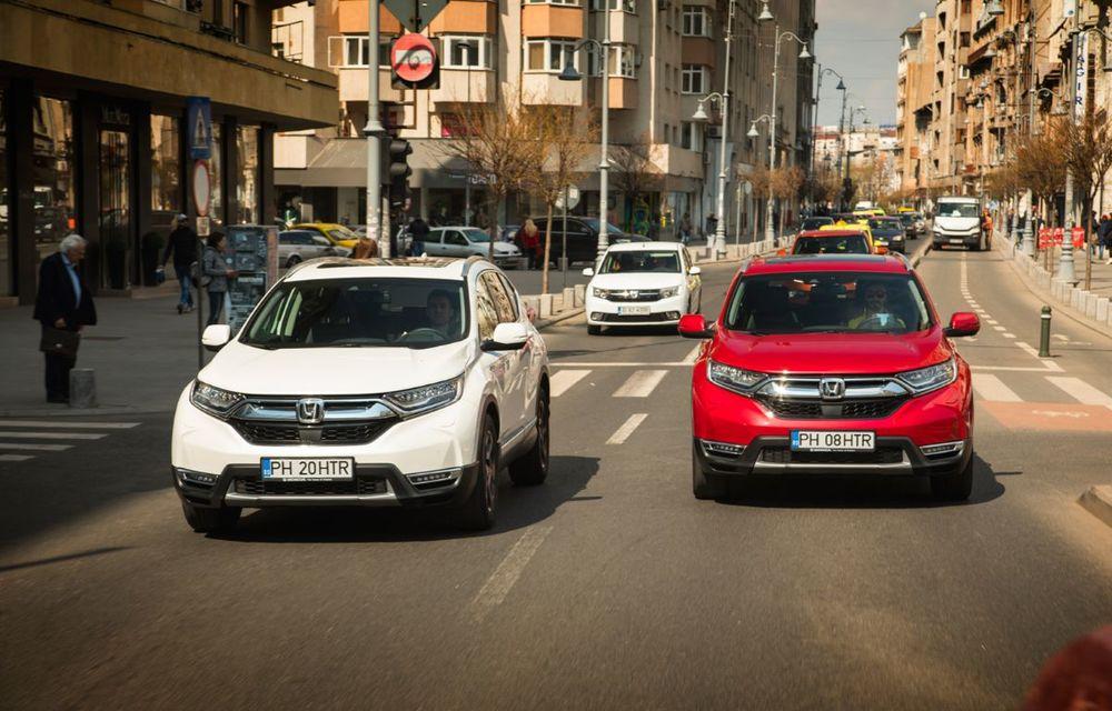 Comparativ de consum: Honda CR-V hibrid vs. Honda CR-V benzină în traficul din București - Poza 32