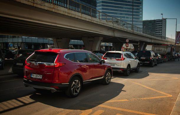 Comparativ de consum: Honda CR-V hibrid vs. Honda CR-V benzină în traficul din București - Poza 10