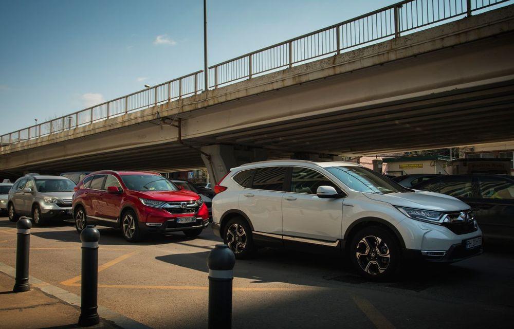 Comparativ de consum: Honda CR-V hibrid vs. Honda CR-V benzină în traficul din București - Poza 12