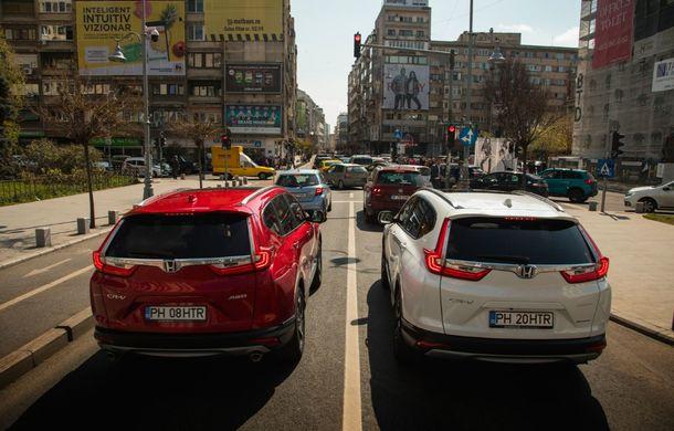 Comparativ de consum: Honda CR-V hibrid vs. Honda CR-V benzină în traficul din București - Poza 30