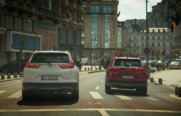 Comparativ de consum: Honda CR-V hibrid vs. Honda CR-V benzină în traficul din București - Poza 35