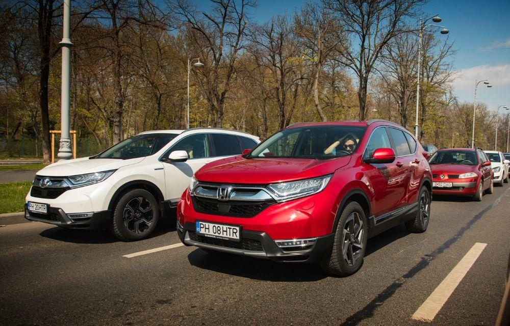 Comparativ de consum: Honda CR-V hibrid vs. Honda CR-V benzină în traficul din București - Poza 18