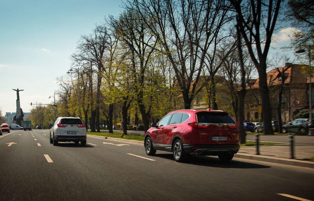Comparativ de consum: Honda CR-V hibrid vs. Honda CR-V benzină în traficul din București - Poza 22