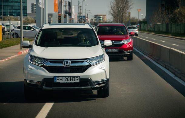 Comparativ de consum: Honda CR-V hibrid vs. Honda CR-V benzină în traficul din București - Poza 5