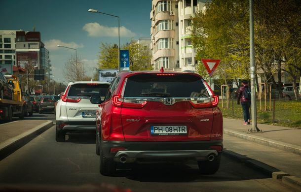 Comparativ de consum: Honda CR-V hibrid vs. Honda CR-V benzină în traficul din București - Poza 13