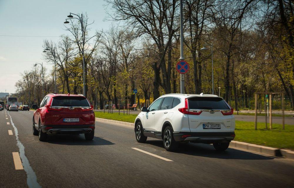 Comparativ de consum: Honda CR-V hibrid vs. Honda CR-V benzină în traficul din București - Poza 17
