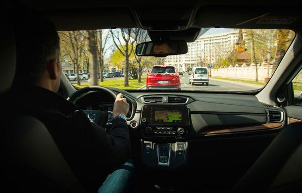 Comparativ de consum: Honda CR-V hibrid vs. Honda CR-V benzină în traficul din București - Poza 48