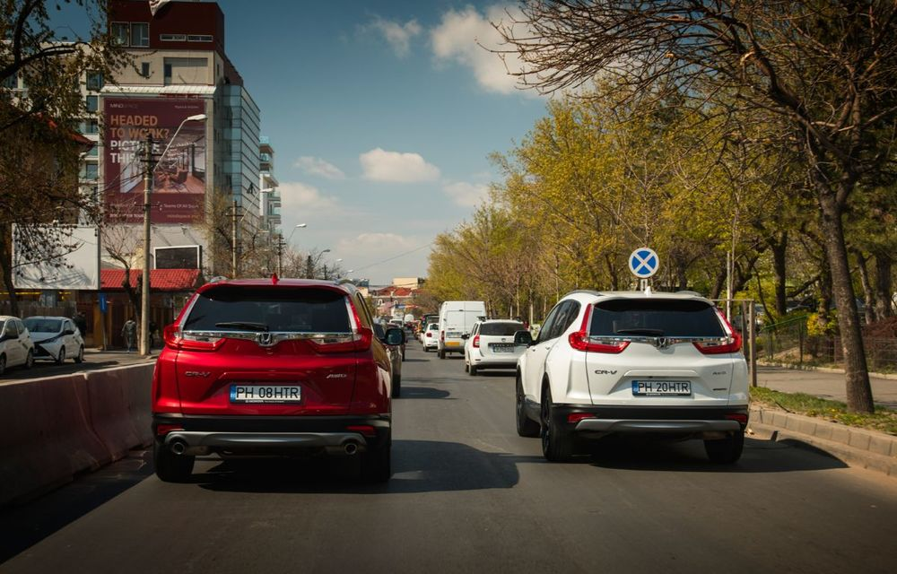 Comparativ de consum: Honda CR-V hibrid vs. Honda CR-V benzină în traficul din București - Poza 14