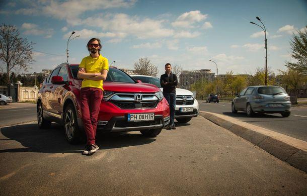Comparativ de consum: Honda CR-V hibrid vs. Honda CR-V benzină în traficul din București - Poza 42