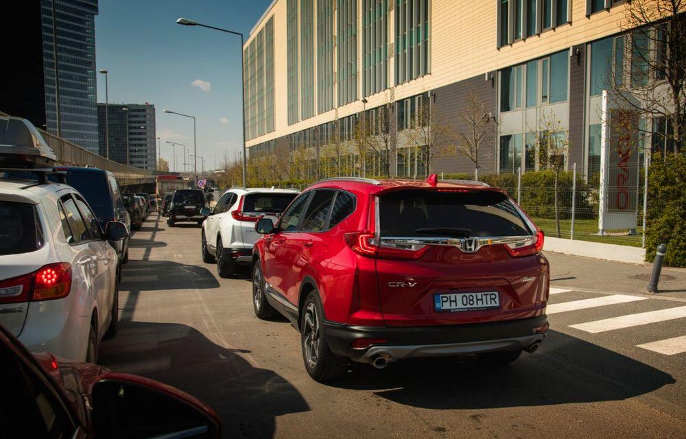 Comparativ de consum: Honda CR-V hibrid vs. Honda CR-V benzină în traficul din București - Poza 8
