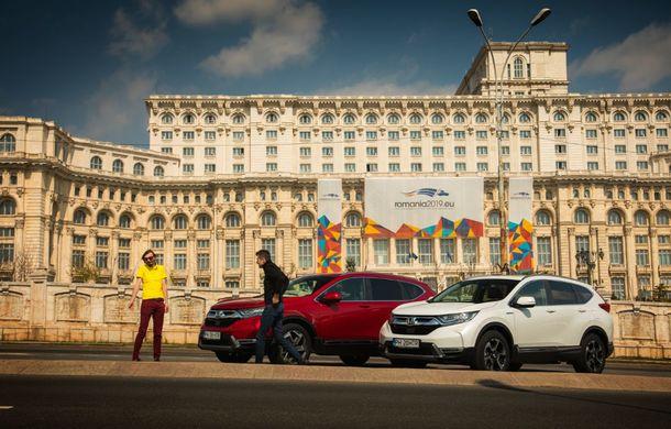 Comparativ de consum: Honda CR-V hibrid vs. Honda CR-V benzină în traficul din București - Poza 41