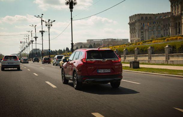 Comparativ de consum: Honda CR-V hibrid vs. Honda CR-V benzină în traficul din București - Poza 37
