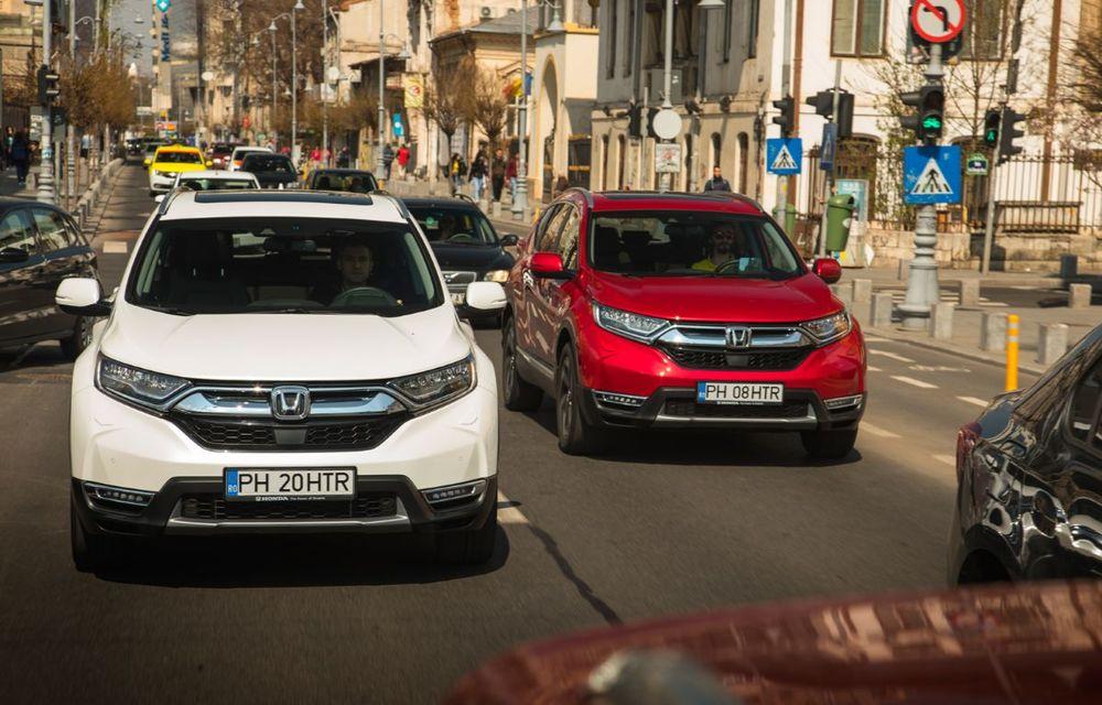 Comparativ de consum: Honda CR-V hibrid vs. Honda CR-V benzină în traficul din București - Poza 29