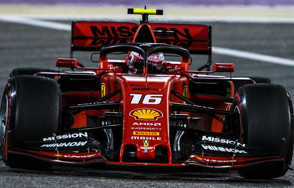 Charles Leclerc obține în Bahrain primul pole position din carieră! Vettel pe locul doi, Mercedes în a doua linie a grilei - Poza 1