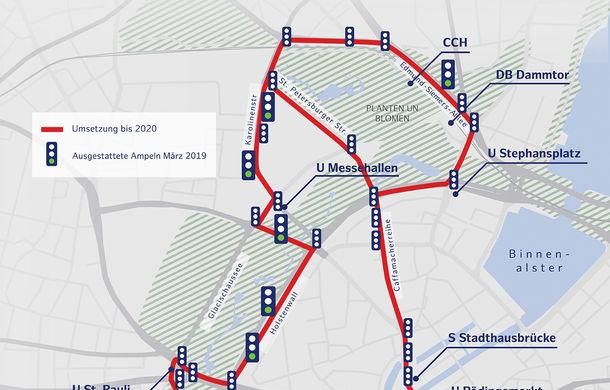Volkswagen a început testele cu mașini autonome: cinci unități e-Golf folosesc un traseu de 3 kilometri din Hamburg - Poza 6
