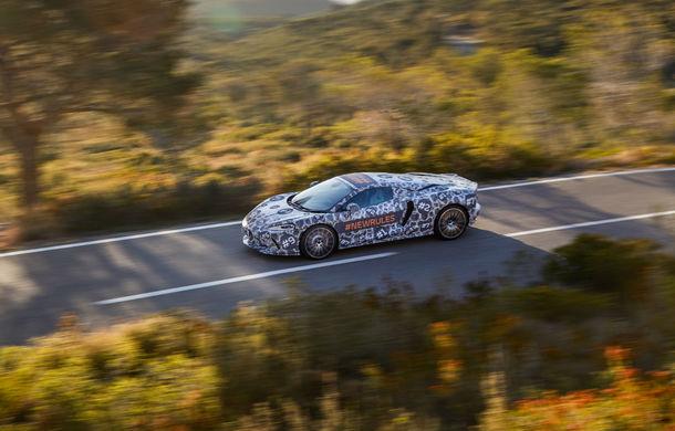 McLaren prezintă imagini noi cu viitorul său Grand Tourer: noul model cu motor V8 va fi dezvăluit în luna mai - Poza 3