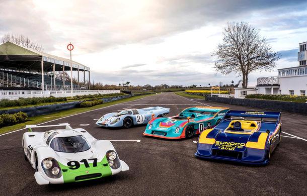50 de ani de la debutul lui Porsche 917: nemții au adus patru exemplare 917 la Goodwood - Poza 1