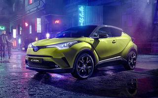 Toyota C-HR Neon Lime: SUV-ul primește o ediție specială cu sistem audio JBL și abonament la serviciul de streaming Deezer