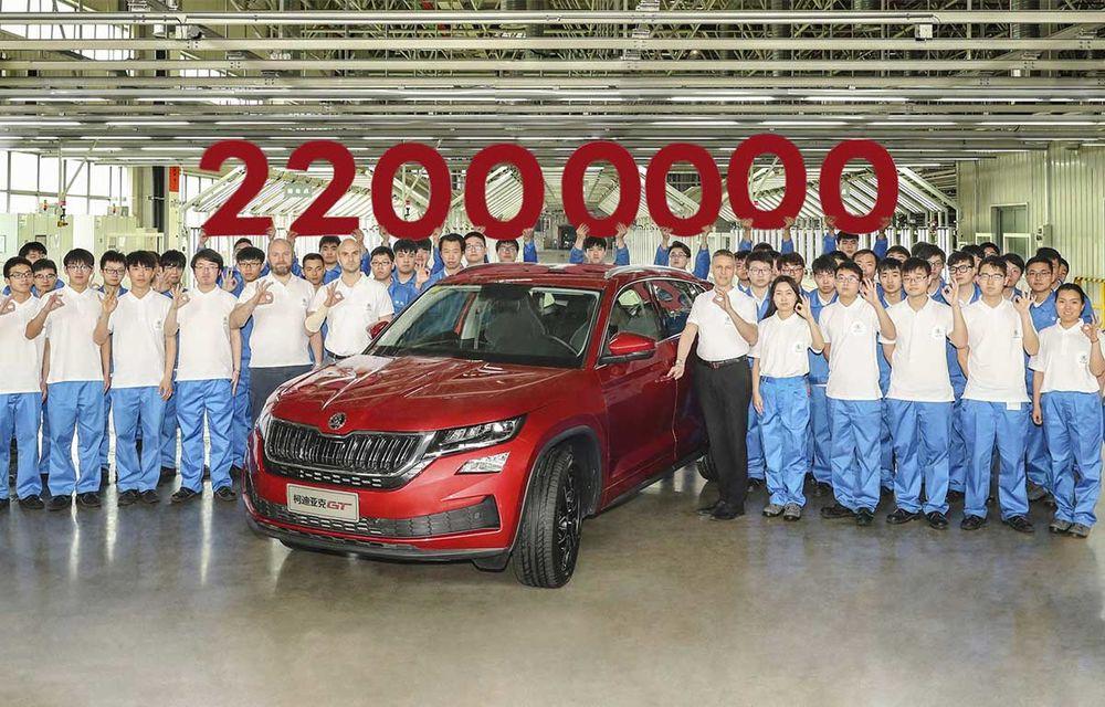 22 de milioane de mașini Skoda: marca cehă a sărbătorit noua bornă la o fabrică din China - Poza 1