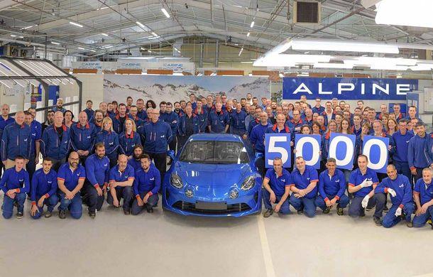 Sărbătoare la Alpine: coupe-ul A110 a atins 5000 de exemplare produse în versiunea sa modernă - Poza 1