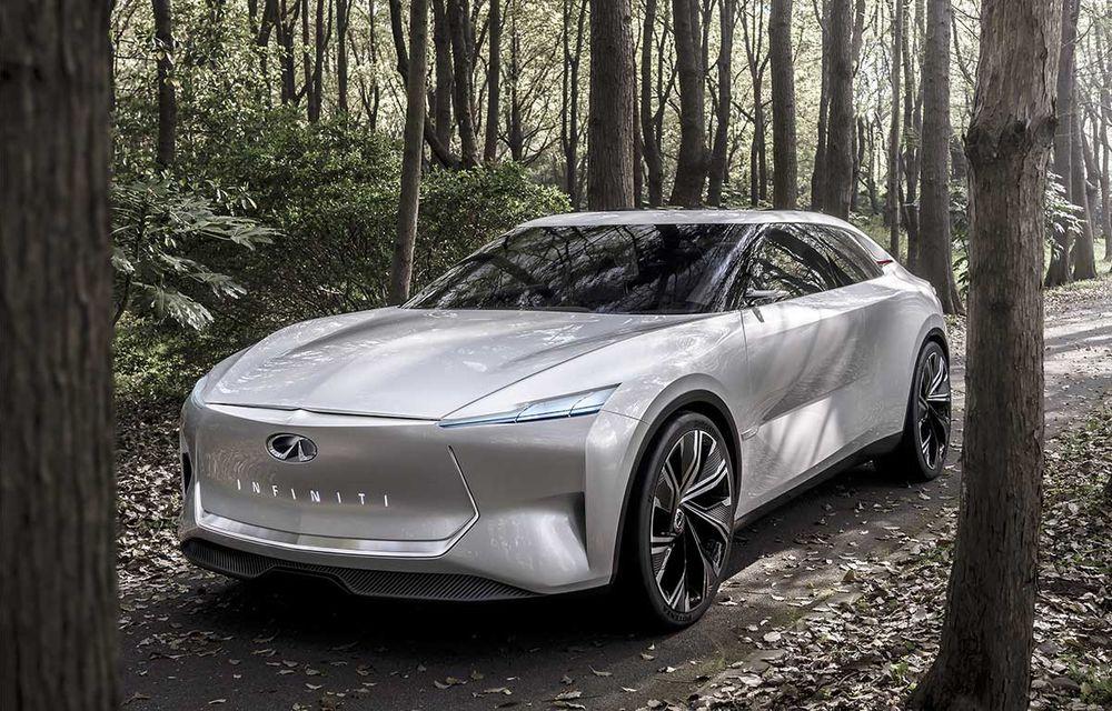 """Infiniti prezintă Qs Inspiration, concept care anunță un sedan """"revoluționar"""": poziție înaltă la volan și sistem de propulsie electrificat cu tracțiune integrală - Poza 1"""