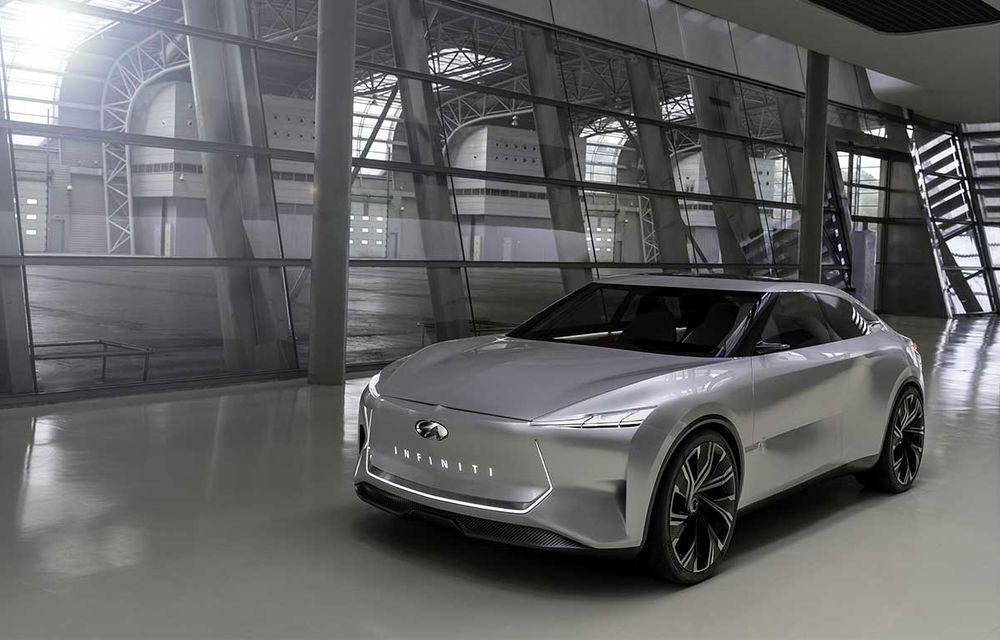 """Infiniti prezintă Qs Inspiration, concept care anunță un sedan """"revoluționar"""": poziție înaltă la volan și sistem de propulsie electrificat cu tracțiune integrală - Poza 2"""