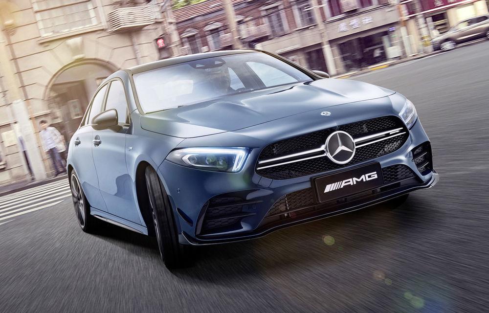 Mercedes-AMG A35 L: sedanul de performanță primește o versiune cu ampatament mărit pentru China - Poza 2